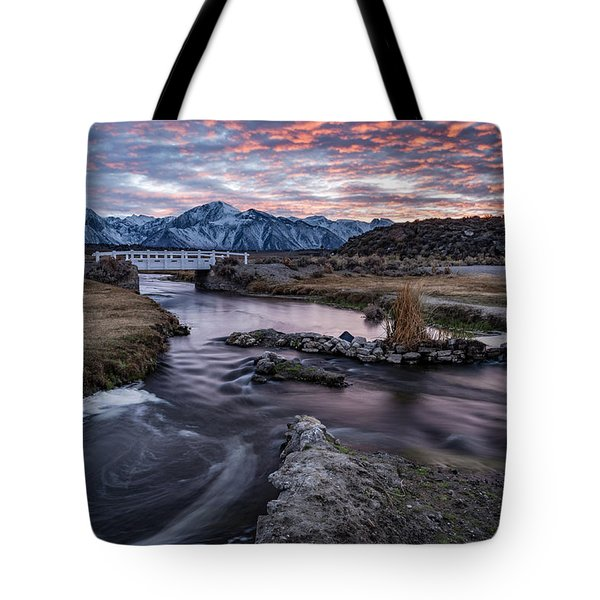 Sunset At Hot Creek Tote Bag