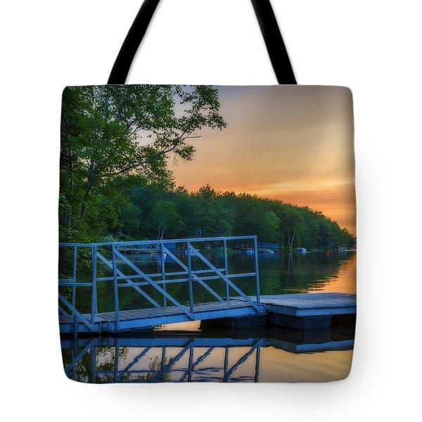 Sunset At Kearney Lake Tote Bag