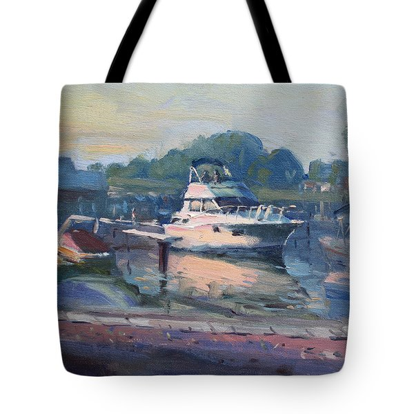 Sunset At Kellys And Jassons Boat Tote Bag