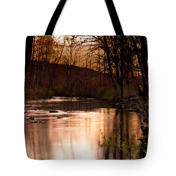 Sunset At King's River Tote Bag by Tamyra Ayles
