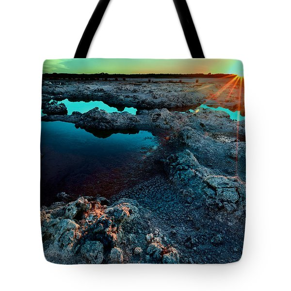 Tote Bag featuring the photograph Sunset At Lake Walyungup by Julian Cook