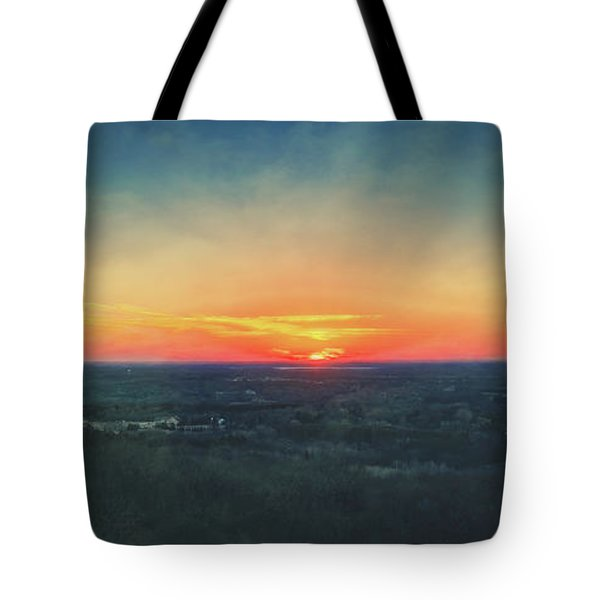 Tote Bag featuring the photograph Sunset At Lapham Peak #3 - Wisconsin by Jennifer Rondinelli Reilly - Fine Art Photography