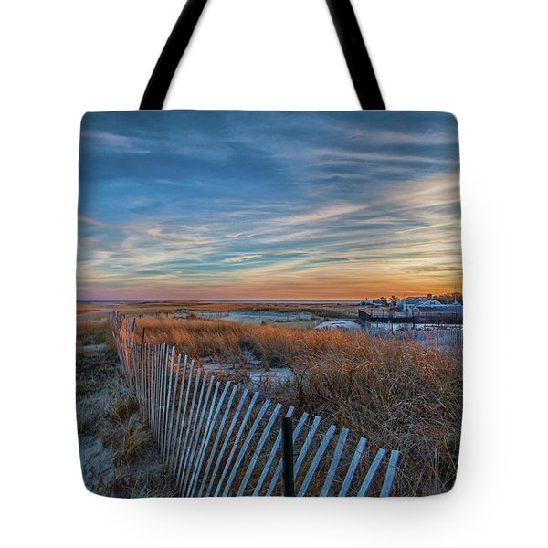 Sunset At Lighthouse Beach In Chatham Massachusetts Tote Bag