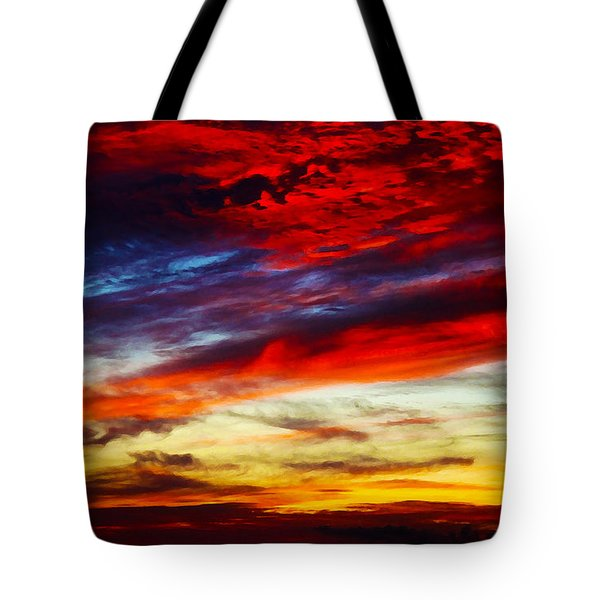 Sunset At Louie's Tote Bag