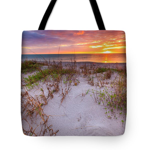 Sunset At Manisota Beach Tote Bag