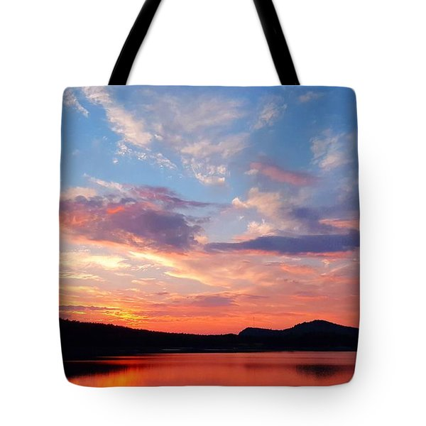 Sunset At Ministers Island Tote Bag
