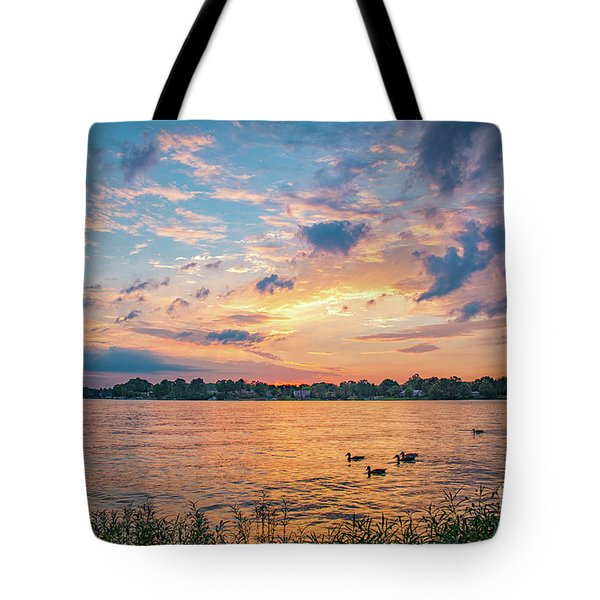 Sunset At Morse Lake Tote Bag