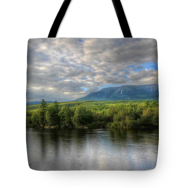 Sunset At Mt. Katahdin Tote Bag by Lori Deiter
