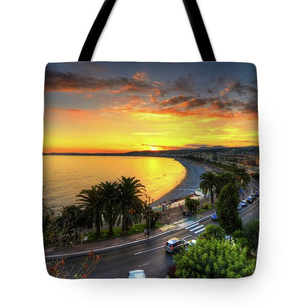 Tote Bag featuring the photograph Sunset At Nice by Yhun Suarez