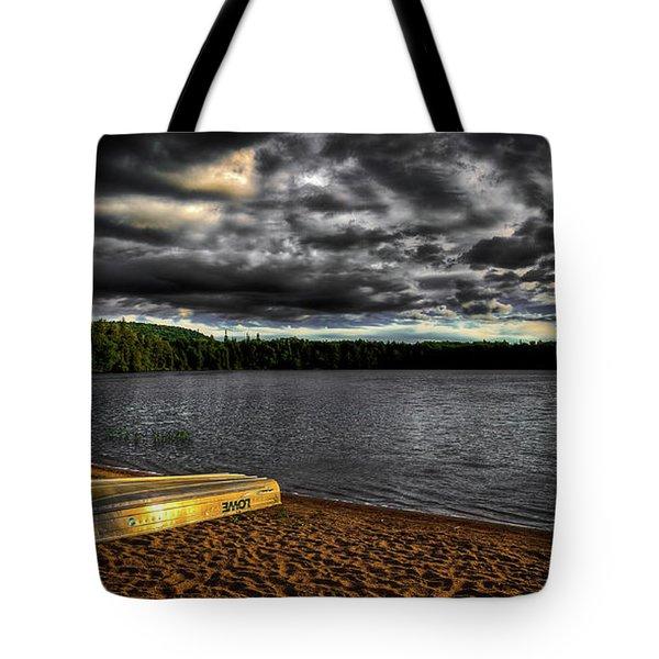 Sunset At Nicks Lake Tote Bag by David Patterson
