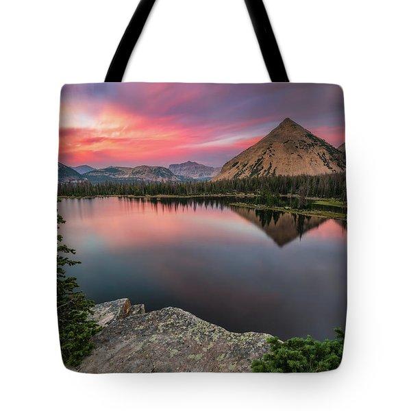 Sunset At Notch Lake Tote Bag