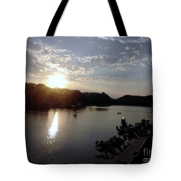Sunset At Occoquan Tote Bag