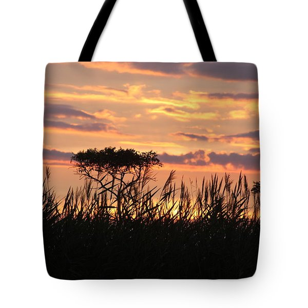 Tote Bag featuring the photograph Sunset At Ocean City by Vadim Levin