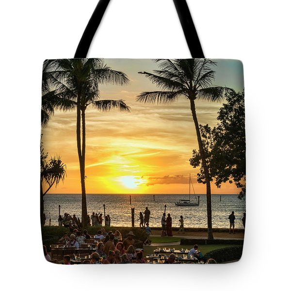 Sunset At Old Lahina Luau #2 Tote Bag