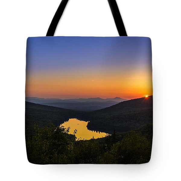 Sunset At Owls Head Tote Bag by Tim Kirchoff