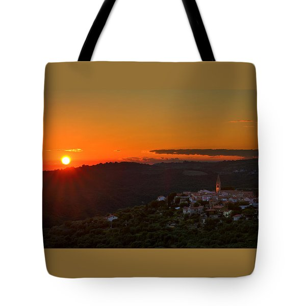 Sunset At Padna Tote Bag