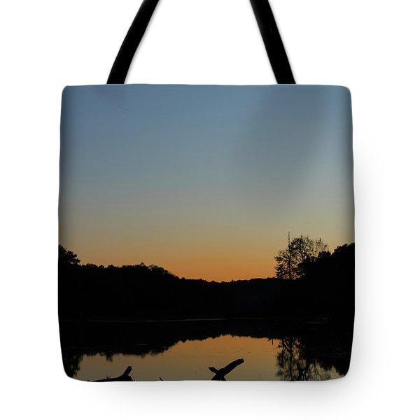 Sunset At Paulinskill Lake Tote Bag by Nicki McManus
