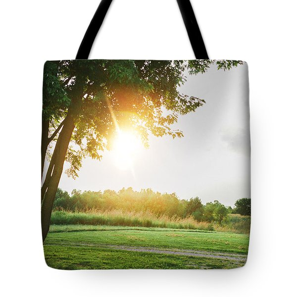 Sunset At Pearman Forest Tote Bag