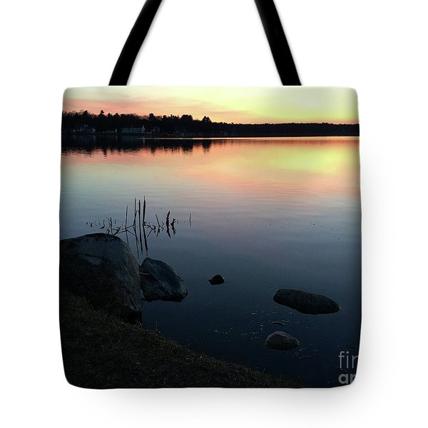 Sunset At Pentwater Lake Tote Bag