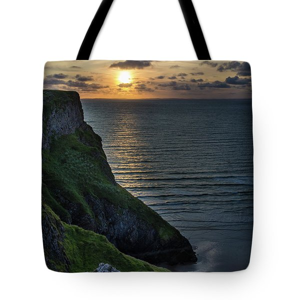Sunset At Rhossili Bay Tote Bag