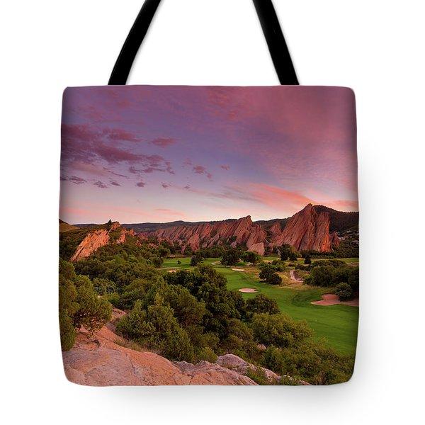 Sunset At Roxborough State Park Tote Bag