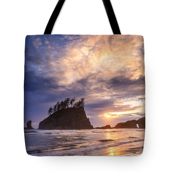 Sunset At Second Beach Tote Bag