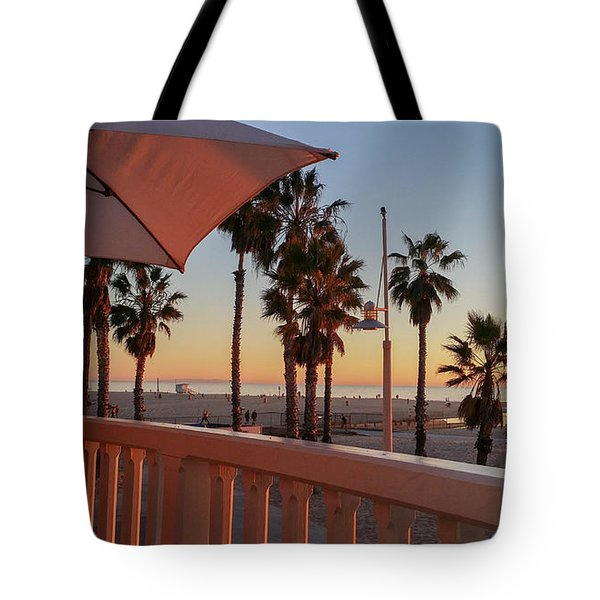 Sunset At Shutters Tote Bag by Mark Barclay