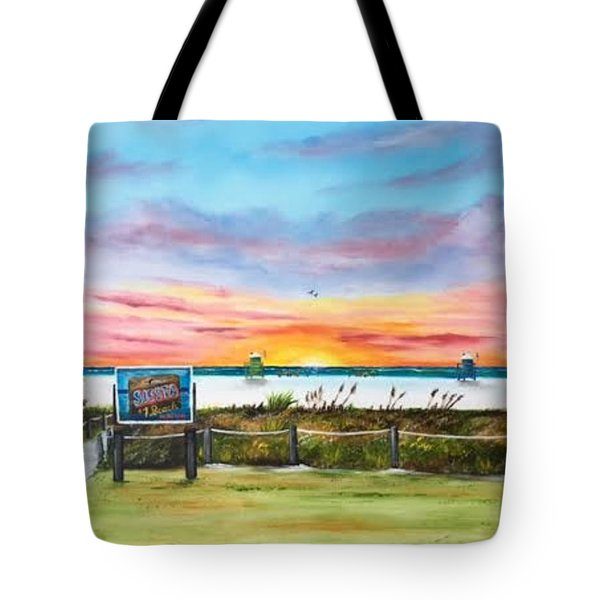 Sunset At Siesta Key Public Beach Tote Bag