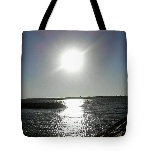 Sunset At Solomons Island Md Tote Bag