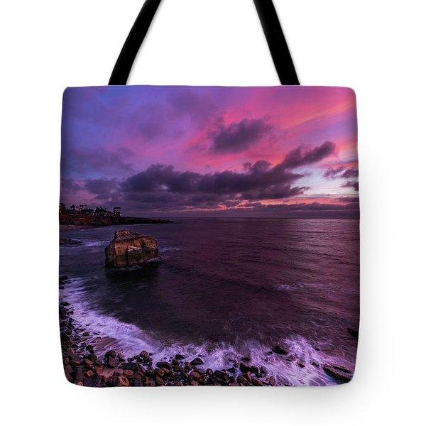 Sunset At Sunset Cliffs Tote Bag