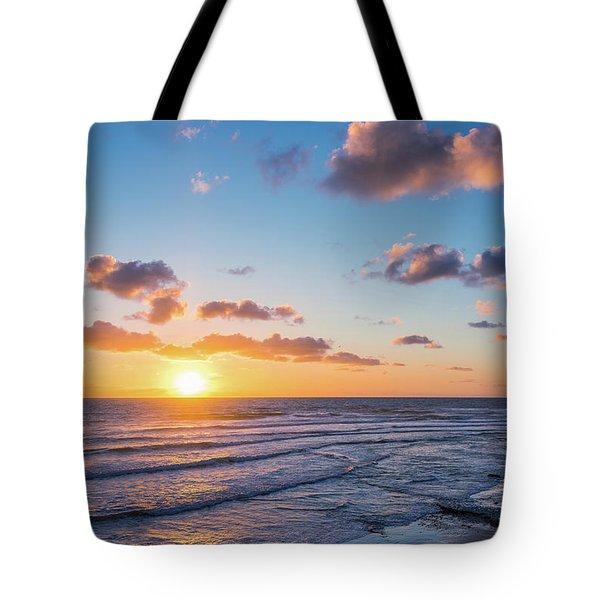 Sunset At Swami's Beach  Tote Bag