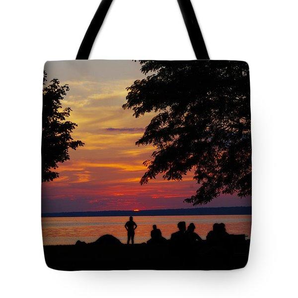 Sunset At Sylvan Beach Tote Bag