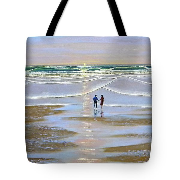 Sunset At The Beach Tote Bag by Frank Wilson