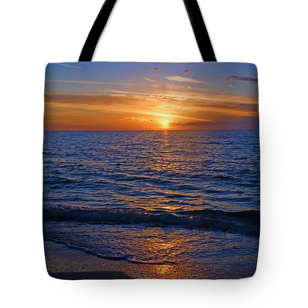 Sunset At The Beach In Naples, Fl Tote Bag