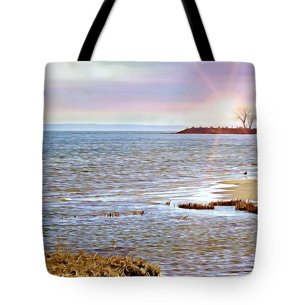 Sunset At The Beach - Tod's Point Tote Bag