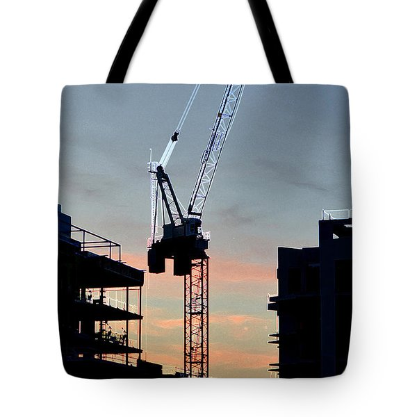 Sunset At The Construction Site 3  Tote Bag by Lyle Crump