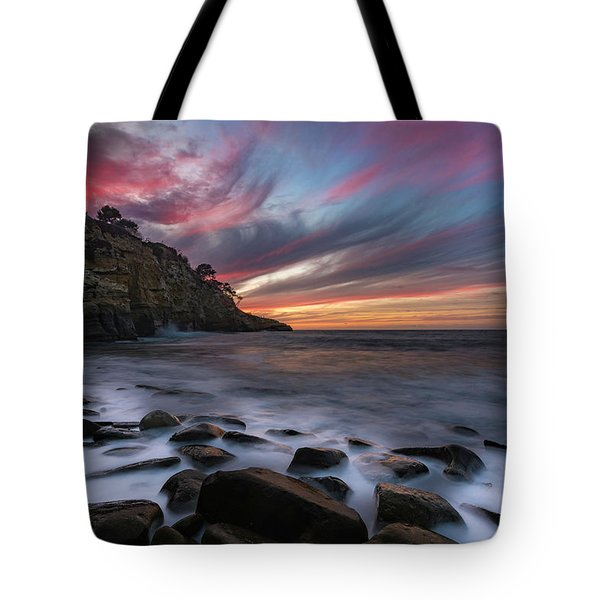 Sunset At The Cove Tote Bag
