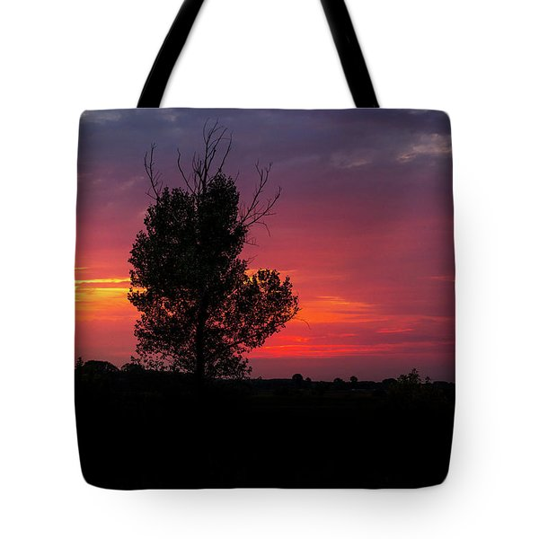 Sunset At The Danube Banks Tote Bag