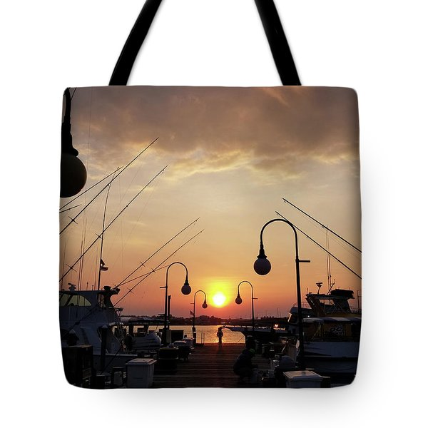 Sunset At The End Of The Talbot St Pier Tote Bag
