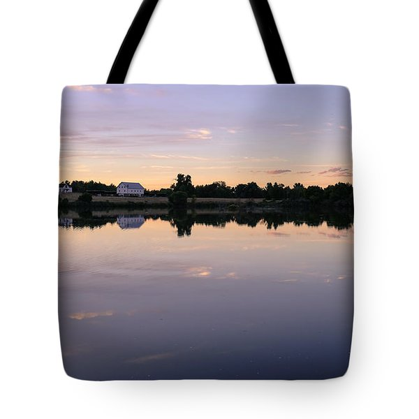 Tote Bag featuring the photograph Sunset At The Farmhouse by Monte Stevens