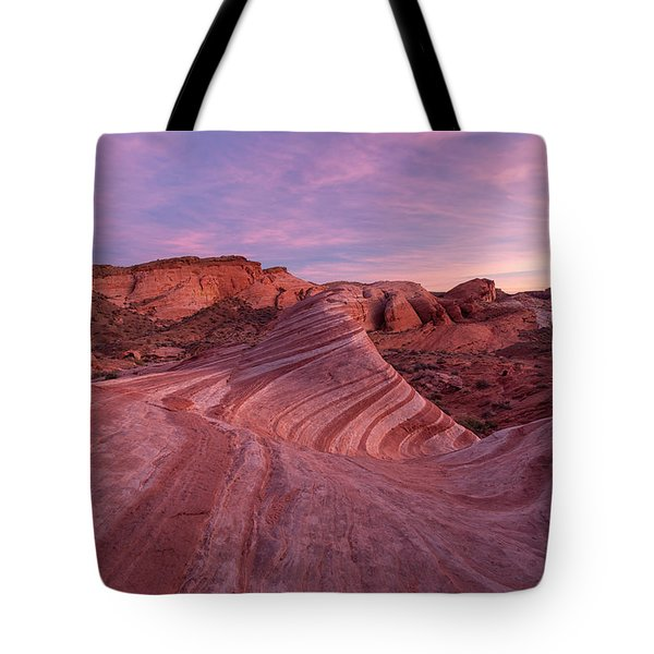 Tote Bag featuring the photograph Sunset At The Fire Wave by Patricia Davidson