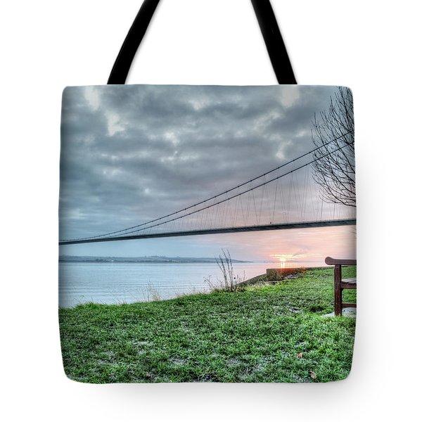 Sunset At The Humber Bridge Tote Bag