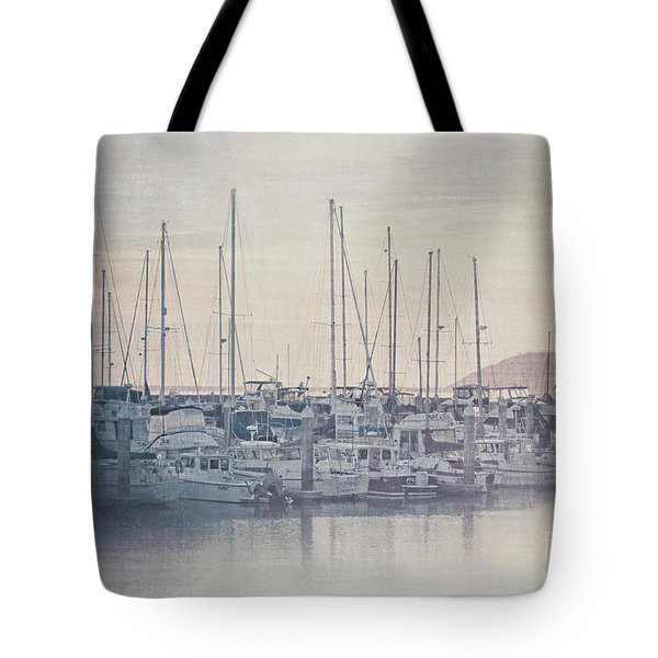 Tote Bag featuring the photograph Sunset At The Marina by Teresa Wilson