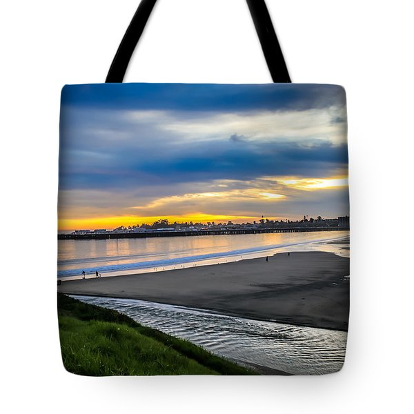 Sunset At The Rivermouth Tote Bag