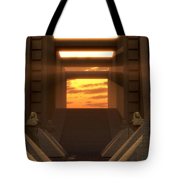 Sunset At The Temple Tote Bag