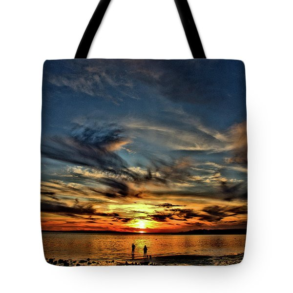 Sunset At The Waters Edge Tote Bag