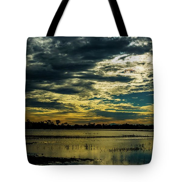 Sunset At The Wetlands Tote Bag