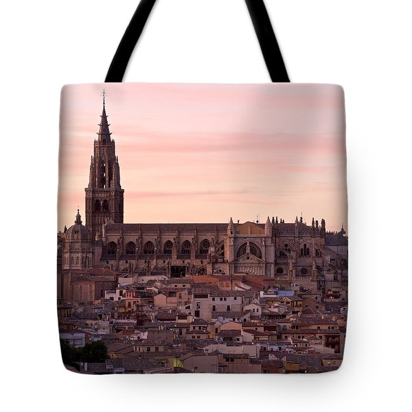 Sunset At Toledo Tote Bag
