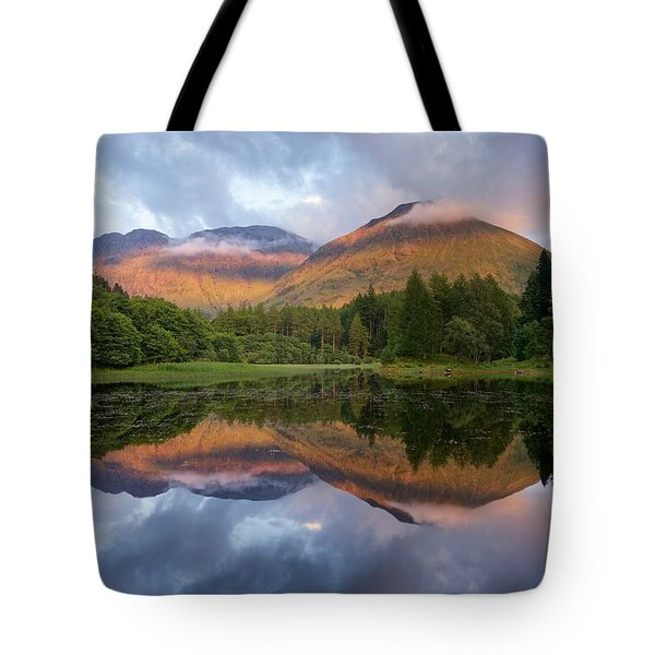 Sunset At Torren Lochan Tote Bag