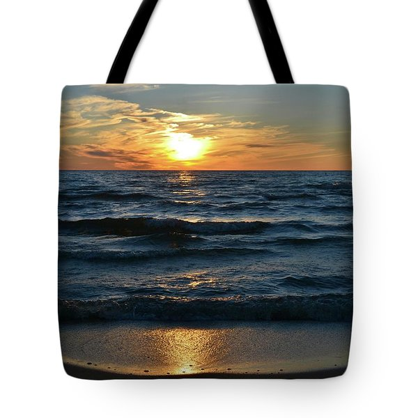 Sunset At Wasaga Beach June 21-2017  Tote Bag
